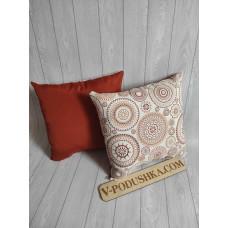 Набор декоративных подушек с принтом
