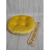 Круглая подушка на заказ (ткань мех-велюр)