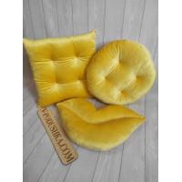 Комплект декоративных подушек  (ткань мех-велюр)