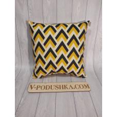 Подушка декоративная зиг-заг ( пошив по индивидуальным размерам)