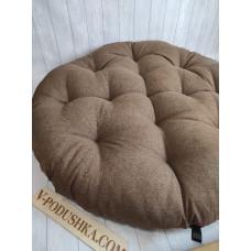 Круглая подушка на заказ (ткань рогожка)