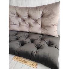 Подушка и матрас на заказ (ткань велюр)