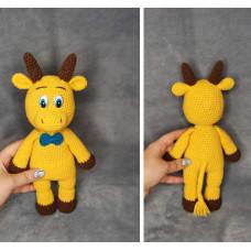 Вязаная игрушка Бык ( Символ 2021)
