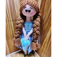 Вязаная Кукла Тильда + сердечко